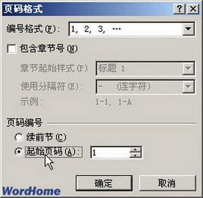 word2007 怎么在每页上设置页码数